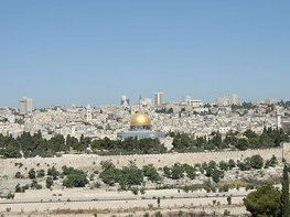 The Temple Mount, viewed from the Mount of Olives